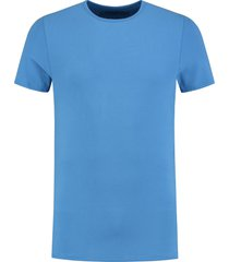 shirtsofcotton heren t-shirt blauw basic round