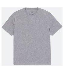 camiseta manga curta easyfit | blue steel | cinza médio | g