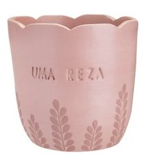 cachepot mestras do barro afeto rose - home style
