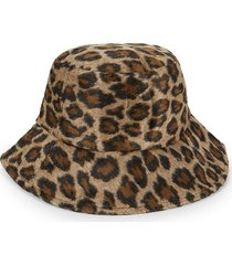 marcus adler women's leopard-print faux fur bucket hat - brown