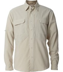 camisa expedition stretch beige royal robbins by doite
