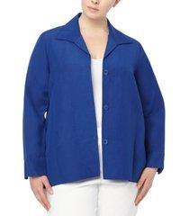 anne klein plus size raglan-sleeve jacket