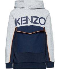logo jb 7 hoodie trui blauw kenzo