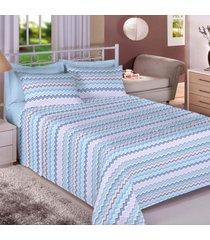 jogo de cama 140 fios casal 100% algodão jandir - bene casa
