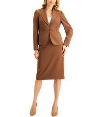 le suit petite shawl-collar skirt suit