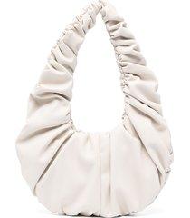 nanushka anja ruched shoulder bag - neutrals