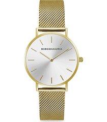 bcbgmaxazria women's classic goldtone braided stainless steel bracelet watch