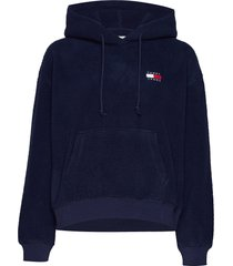 tjw tommy polar fleece hoodie hoodie trui blauw tommy jeans