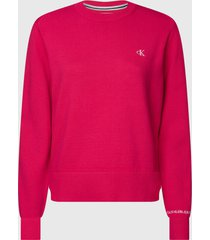 sweater calvin klein jeans fucsia - calce regular