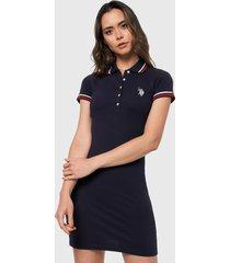 vestido azul navy-rojo-blanco us polo assn