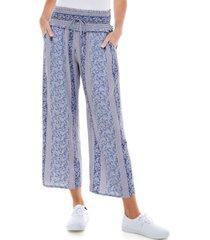 kingston grey juniors' cropped mixed print pants