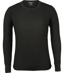 wolverine men's classic medium weight thermal top black, size xl