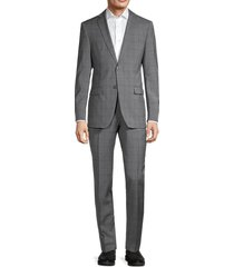 john varvatos star u.s.a. men's 2-piece standard-fit wool-blend suit jacket & pants set - grey - size 42 r