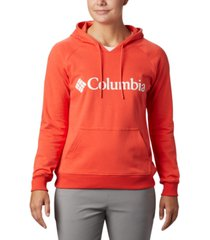 columbia women's french terry logo hoodie
