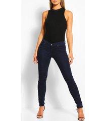 stretch low rise skinny jeans, indigo