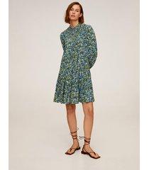 bedrukte stretch jurk