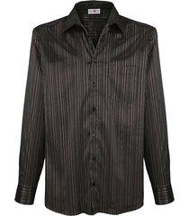 overhemd roger kent zwart::bordeaux