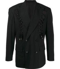 jean paul gaultier pre-owned 1992 cutout blazer - black