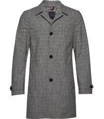 check design carcoat dunne lange jas grijs tommy hilfiger tailored