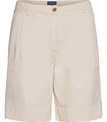 d1. hw pleated city shorts shorts chino shorts creme gant