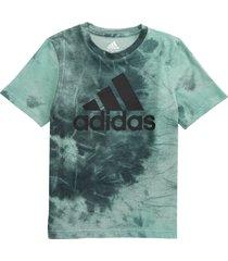 boy's adidas kids' tie dye bos graphic tee, size 5 - black