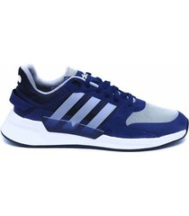 tenis running azul-gris-blanco adidas performance run90s