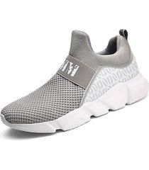 pannelli elastici per uomo sneakers casual resistenti all'usura in tessuto a maglia
