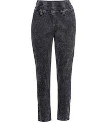 jeans con cinta elastica e cerniera al lato (nero) - rainbow