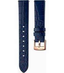 cinturino per orologio 17mm, blu, placcato color oro rosa