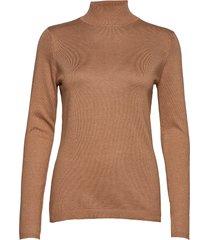 lana roll neck knit turtleneck polotröja brun minus