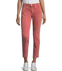 stix crop raw hem skinny jeans