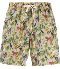 altea botanical-print swim shorts - neutrals