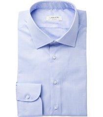 camicia da uomo su misura, ibieffe, icon azzurra oxford cotone, quattro stagioni | lanieri
