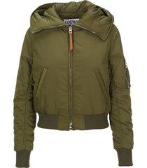 loewe cropped bomber jacket