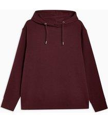 mens red burgundy eye print hoodie