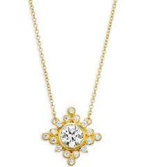 goldplated sterling silver & cubic zirconia pendant necklace