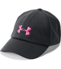 gorra under armour microthread renegade para mujer - negro/rosado