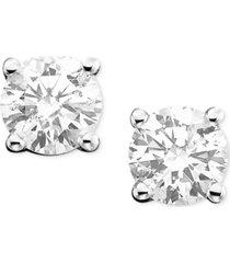 diamond stud earrings (1-1/4 ct. t.w.) in 14k white or yellow gold