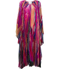 camilla straight fit abstract print dress - pink