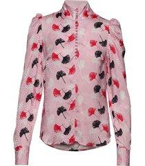 sabine blouse lange mouwen roze custommade