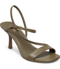 tasha sandal sandal med klack grön michael kors