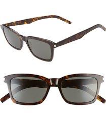 saint laurent slim 52mm square sunglasses -