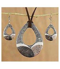 ceramic jewelry set, 'singing hills' (thailand)
