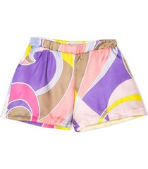 emilio pucci multicolour silk blend shorts