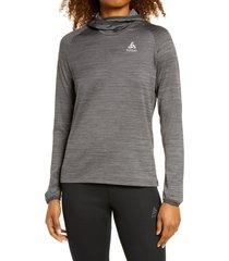 women's odlo millenium midlayer hoodie, size x-small - grey