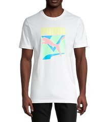 graphic stretch-cotton tee