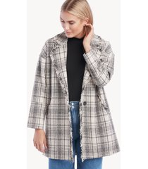 greylin women's bethanny tweed over blazer in color: ivory black size xs from sole society