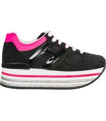 scarpe sneakers donna camoscio maxi h222