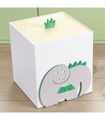 lixeira bebe branco amiguinhos dino grão de gente verde