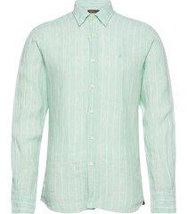 luca button under shirt overhemd casual blauw morris